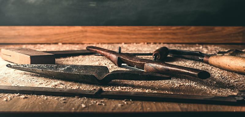 Rangement pour etabli bois